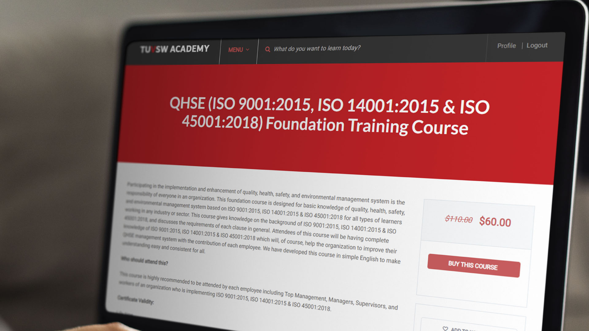 QHSE (ISO 9001:2015, ISO 14001:2015 & ISO 45001:2018) Foundation Training Course