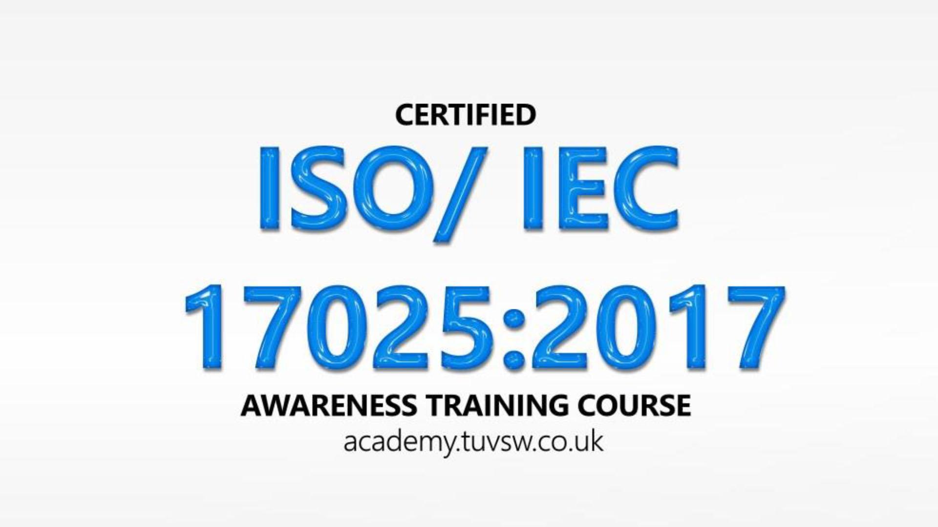 ISO/IEC 17025:2017 Awareness Training Course